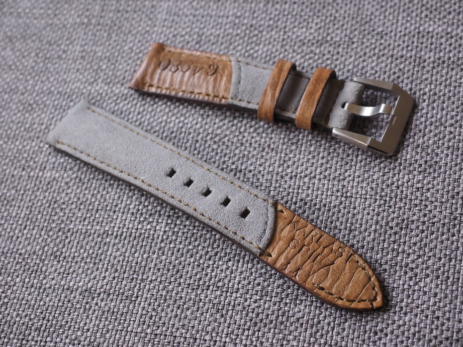 Grey Swiss Ammotara strap for Rolex 20mm